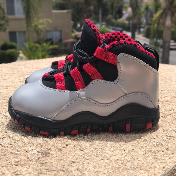 new style 6ba74 ad25a Air Jordan Retro 10 Wolf Grey Toddler Shoes sz 5C
